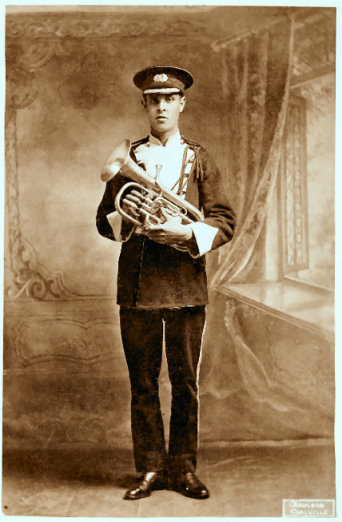 Harry Holt, in the Snibston Colliery Band, we think